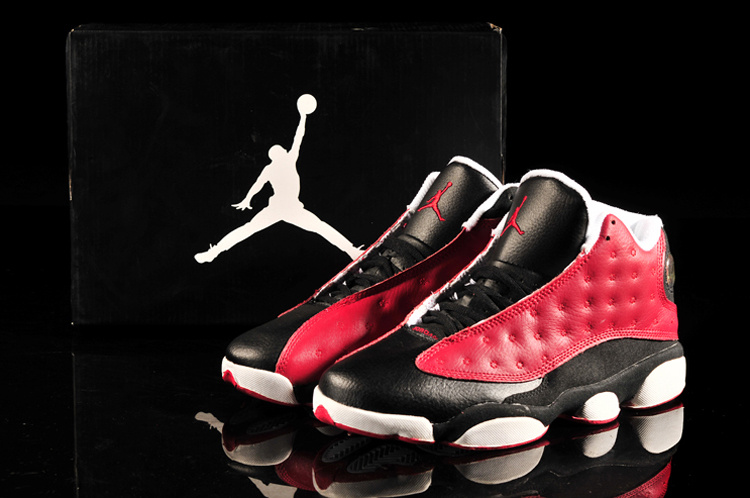 2013 Air Jordan 13 Black Red White Shoes