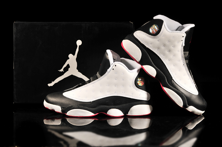2013 Air Jordan 13 White Black Red Shoes