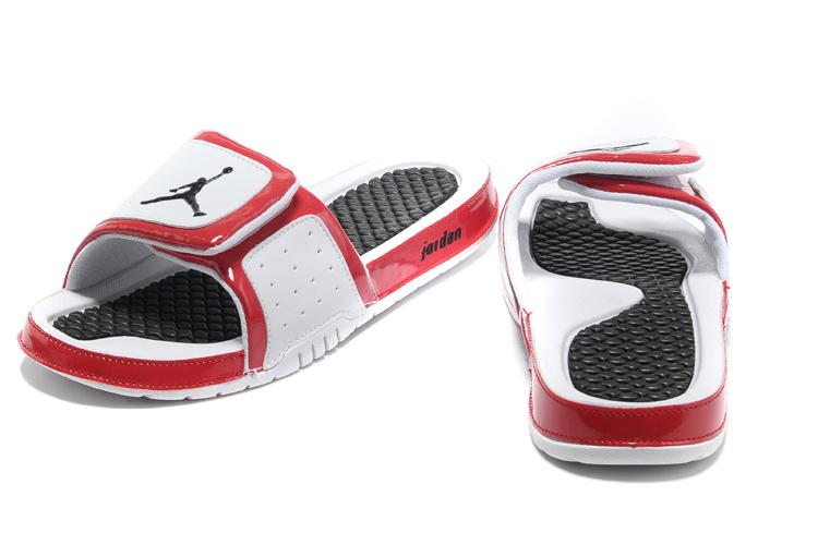 2013 Jordan Hydro 2 White Black Red Slipper.jpg