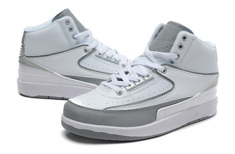 2014 Jordan 2 Retro White Grey Shoes
