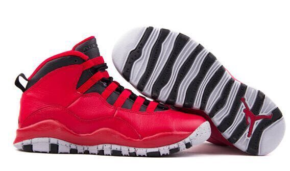 2015 Air Jordan 10 Red Black Shoes For Women
