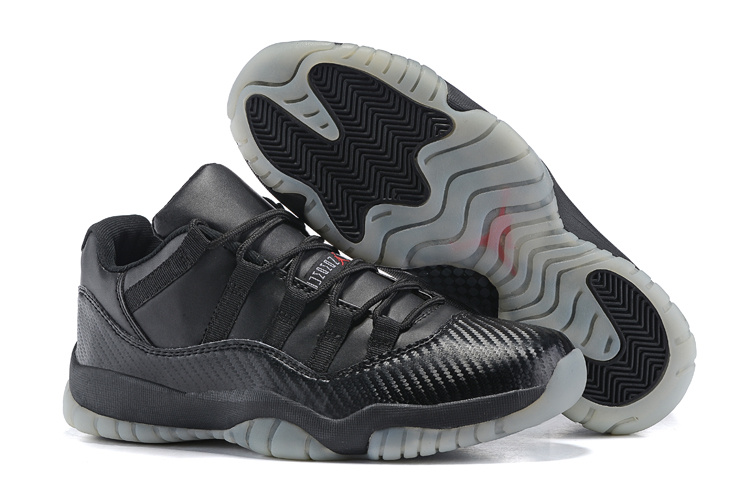 2015 Air Jordan 11 Retro All Black Transparent Sole Shoes