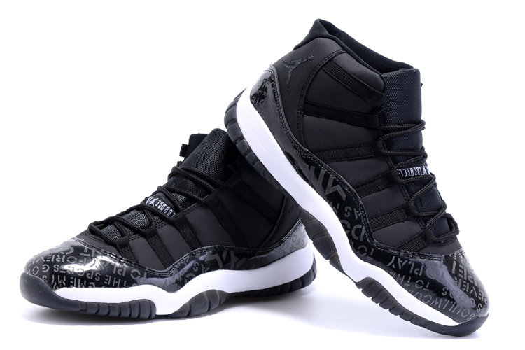 2015 Air Jordan 11 Retro Charity Black Shoes