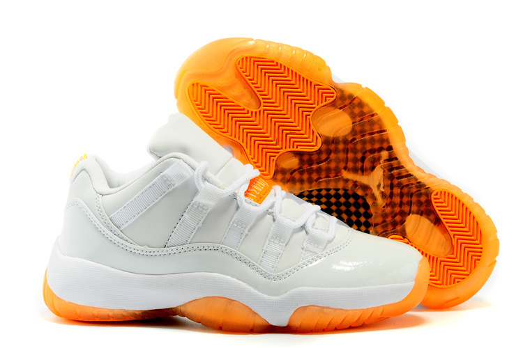 2015 Air Jordan 11 White Orange For Women