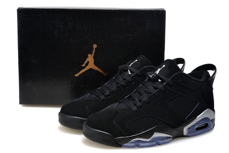 2015 Air Jordan 6 Low All Black Shoes