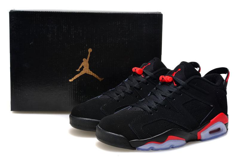 2015 Air Jordan 6 Low Black Infared Red Shoes