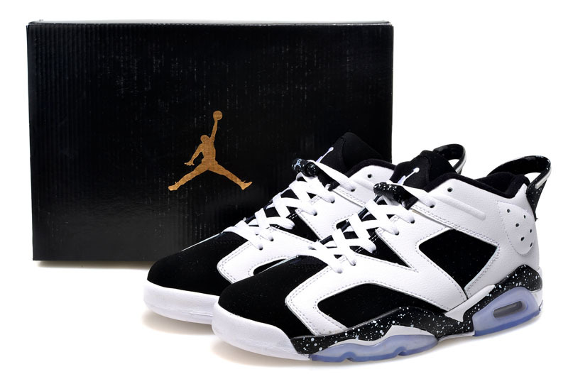 2015 Air Jordan 6 Low White Black Shoes