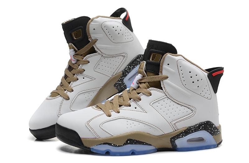 2015 Air Jordan 6 Retro White Coffe Black Shoes