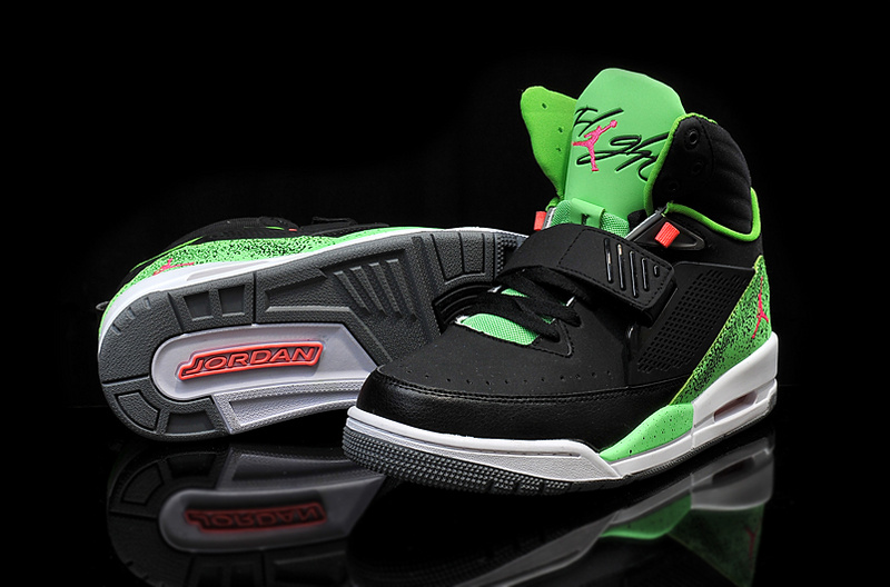 2015 Air Jordan Flight 97 Black Green Red