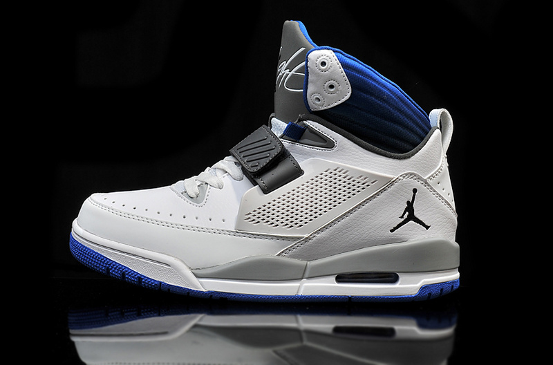 2015 Air Jordan Flight 97 White Grey Black Blue