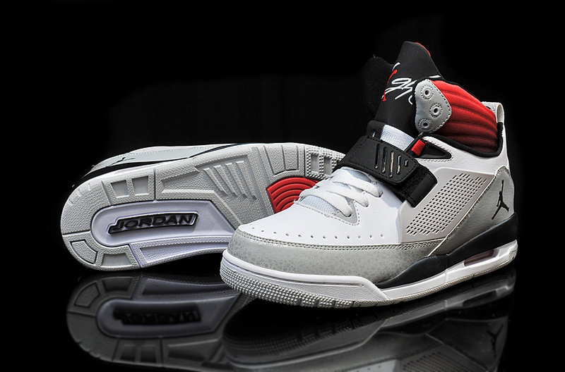 2015 Air Jordan Flight 97 White Grey Black Red