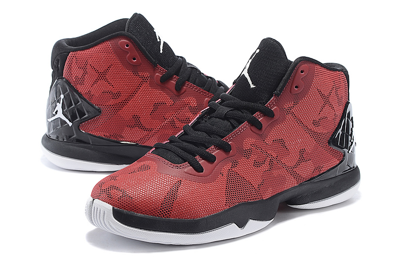 2015 Air Jordan Super Fly 4 Red Black Shoes