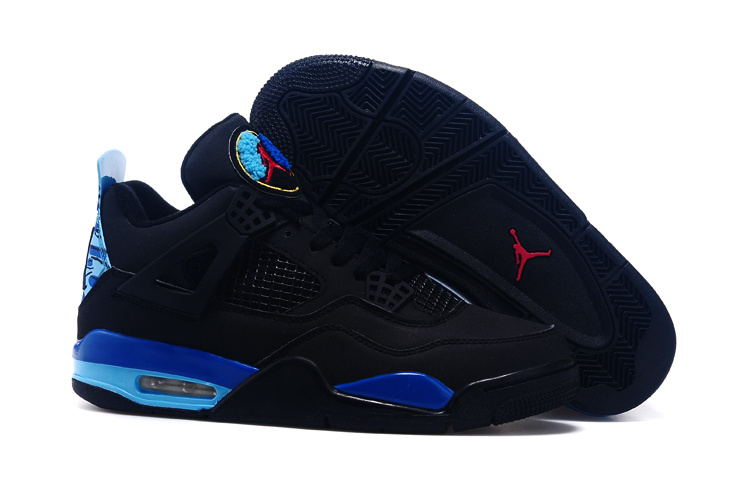 2015 Black Blue Red Jordan 4 And Shoes