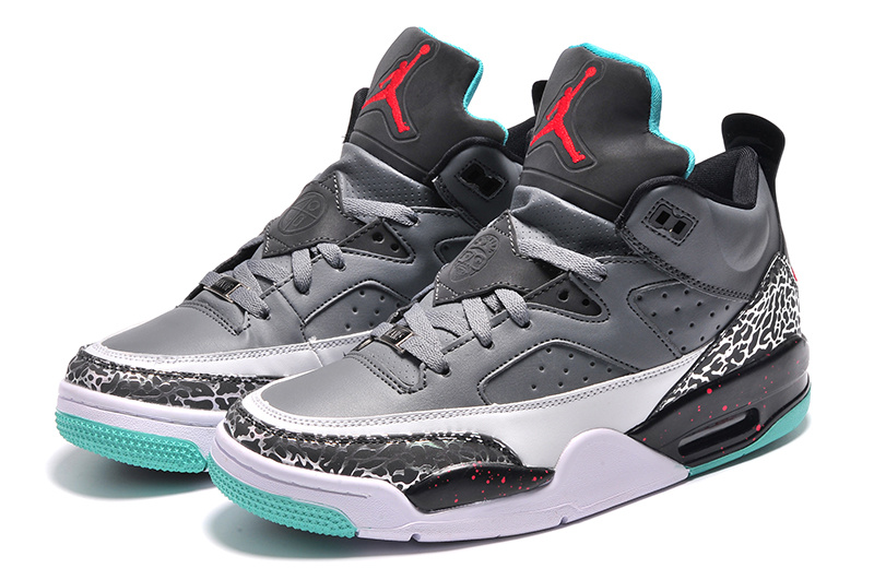 2015 Grey Black Green Jordan Son of Mars Low Shoes