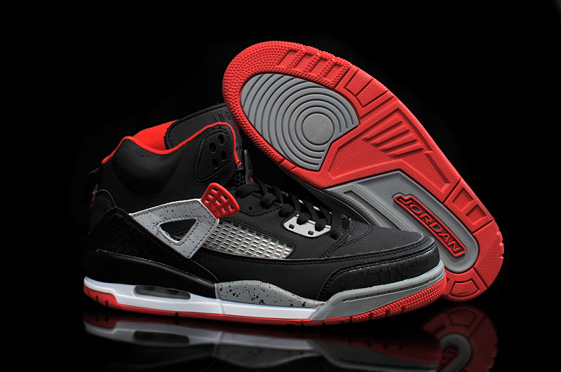 2015 Jordan 3.5 Black Red Grey Shoes