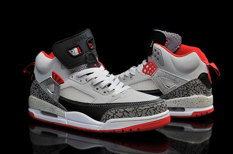 2015 Jordan 3.5 Grey Black Red Shoes
