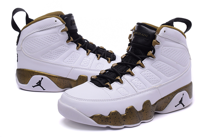 Latest Air Jordan 9 Retro White Coffe Black Shoes