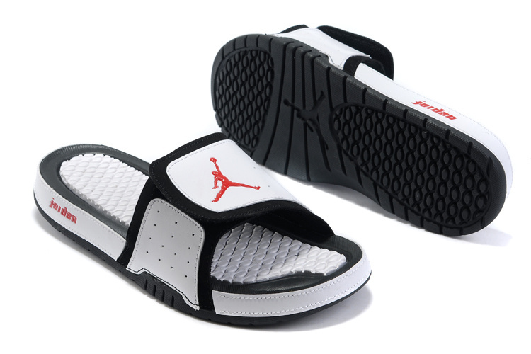 2015 Jordan Hydro 2 White Black Red Sandal