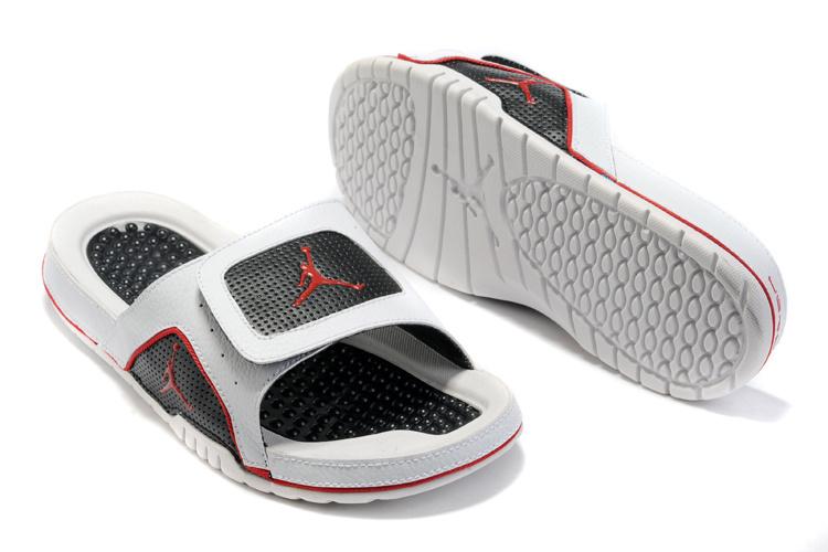 2015 Jordan Hydro 5 Black Red White Sandal