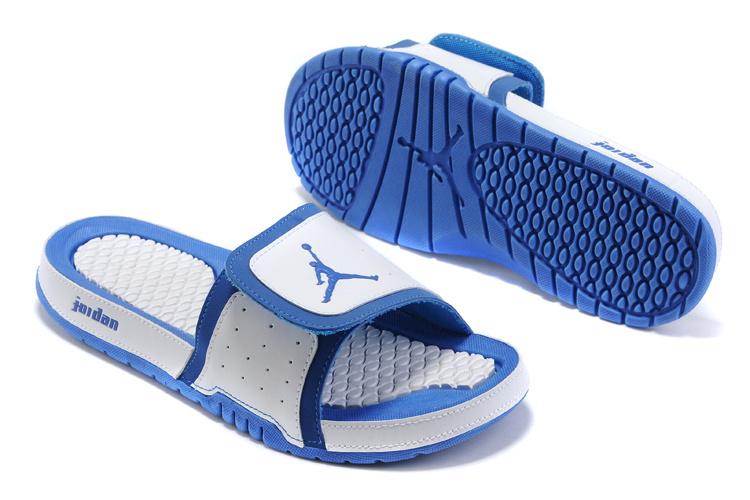 2015 Jordan Hydro 5 White Blue Sandal