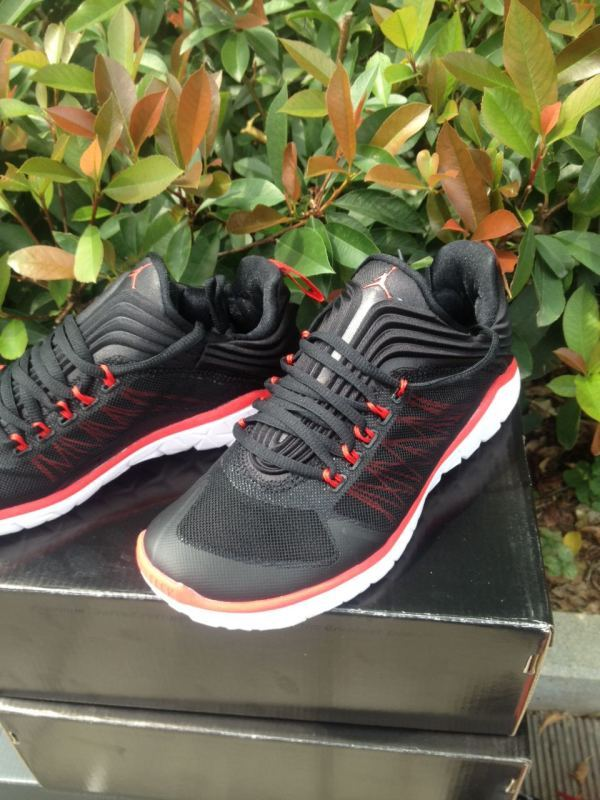 2015 Jordan Running Shoes Black Red White