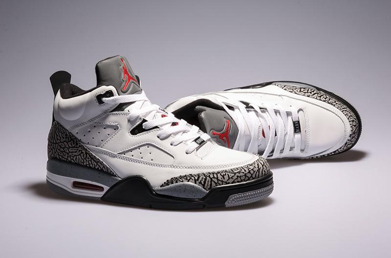 Latest Air Jordan Spizike White Grey Shoes