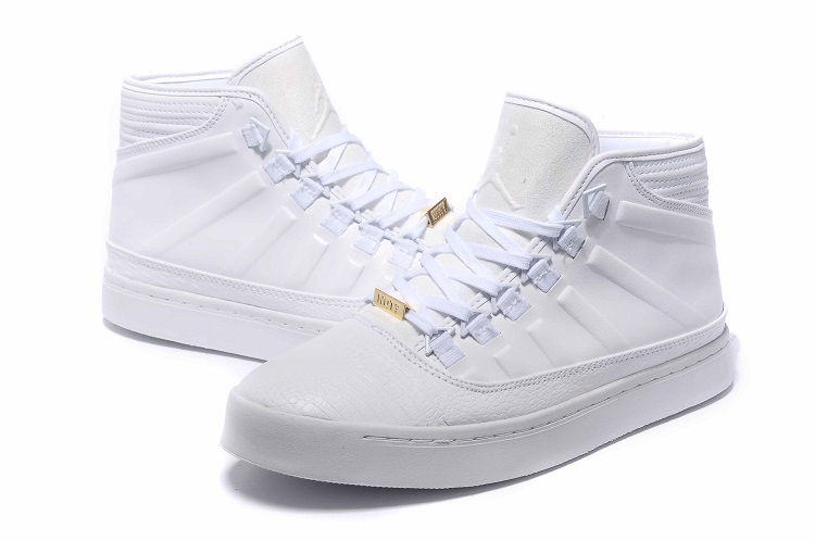 2015 Jordan Westbrook 0 1 All White Shoes