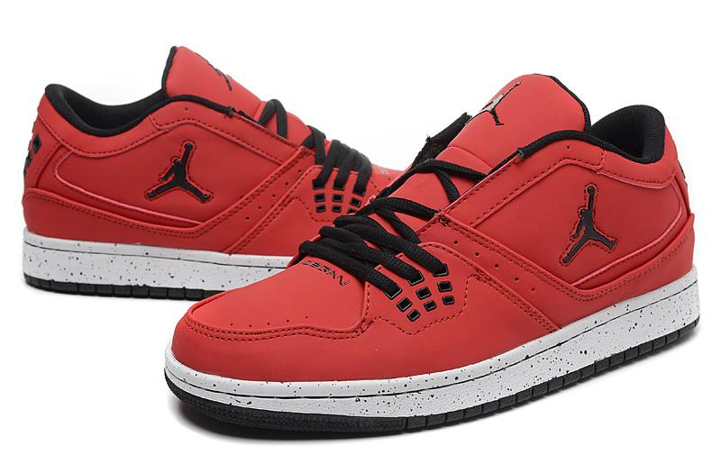 2015 New Air Jordan 1 Low Red Black Shoes