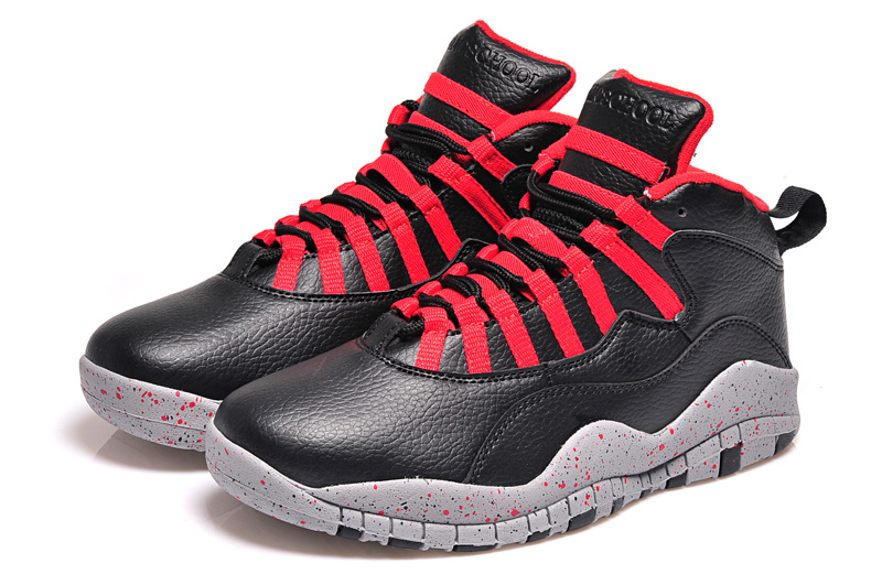 2015 Original Air Jordan 10 Retro Black Red Shoes