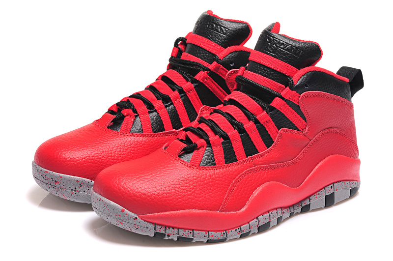 2015 Original Air Jordan 10 Retro Red Black Shoes