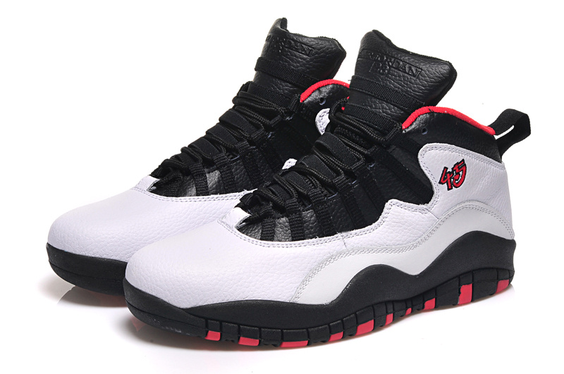 2015 Original Air Jordan 10 Retro White Black Red Shoes