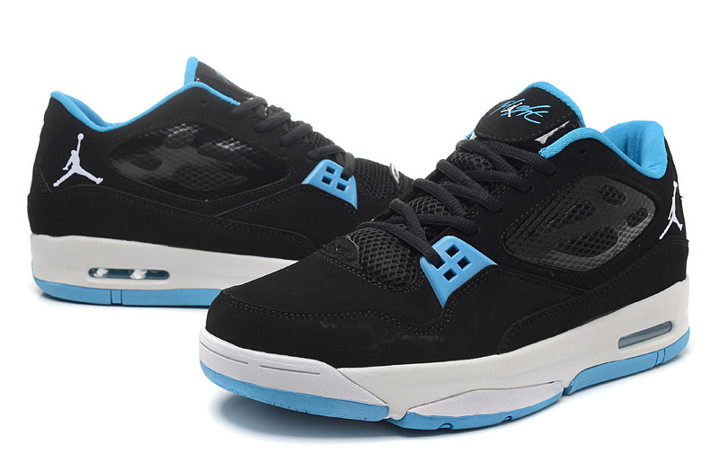 2015 Original Air Jordan Flight 23 RST Low Black Baby Blue Shoes