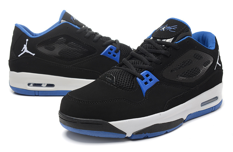 2015 Original Air Jordan Flight 23 RST Low Black Blue Shoes