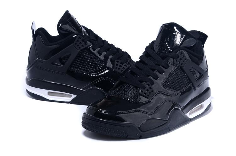 2015 Original Jordan 4 Black White Shoes