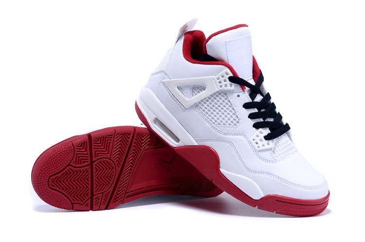 2015 Original Jordan 4 White Red Black Shoes