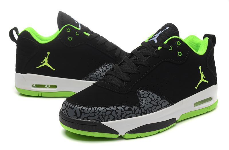 2015 Original Jordan Cement Black Green White Shoes