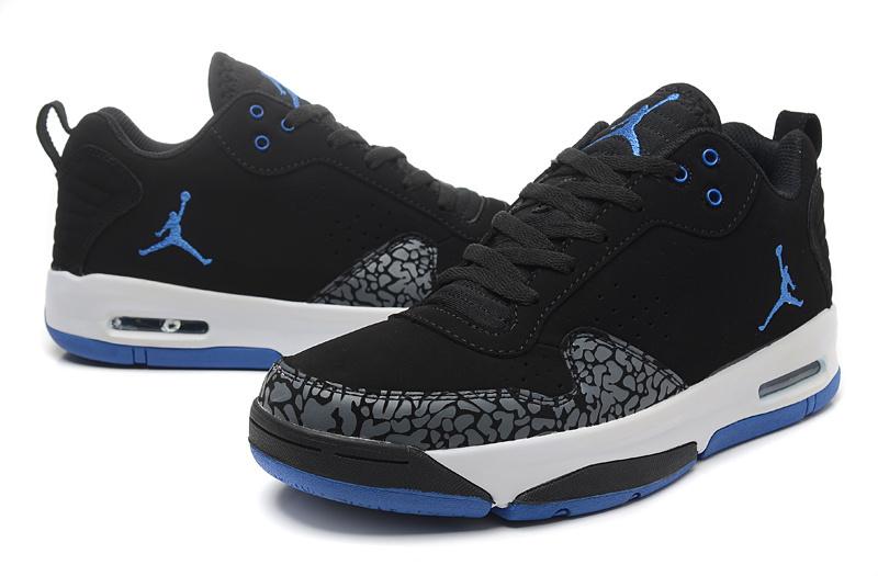 2015 Original Jordan Cement Black Blue White Shoes
