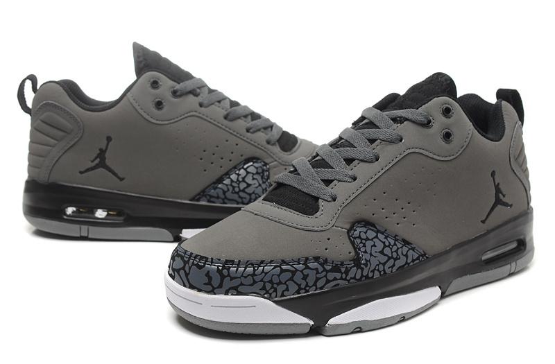 2015 Original Jordan Dark Grey Cement Black White Shoes