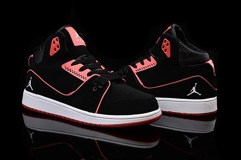2015 Women Air Jordan 1 Flight 2 Black Red Shoes
