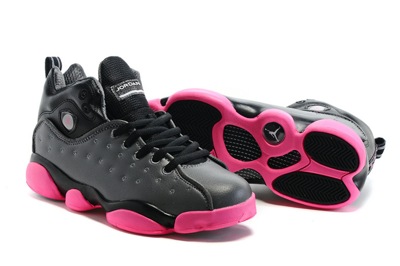 2016 Air Jordan Team 2 GS Dark Grey Pink Shoes