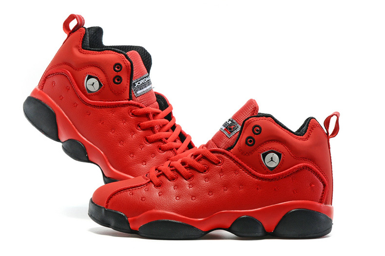 2016 Air Jordan Team 2 GS Red Black Shoes