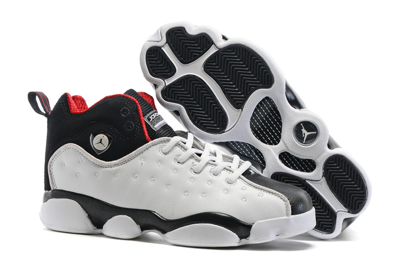 2016 Air Jordan Team 2 GS White Black Shoes