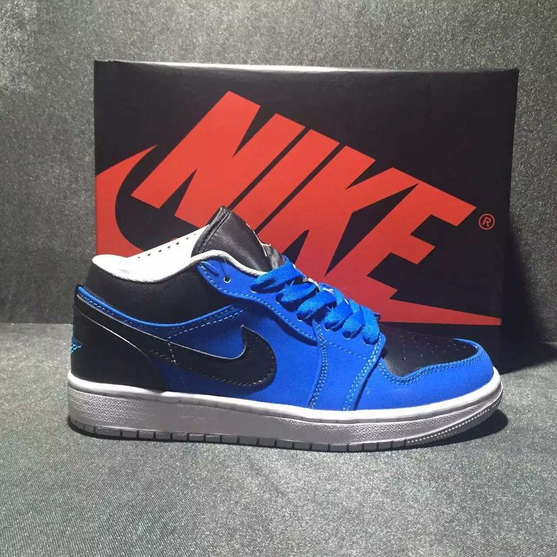 2016 Jordan 1 Low Black Blue