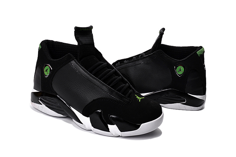 2016 Jordan 14 Black Green Shoes