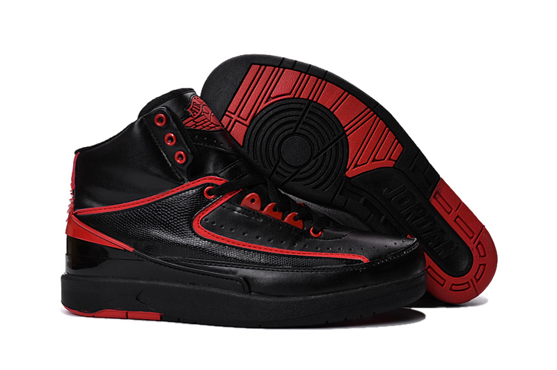 2016 Jordan 2 Black Red Shoes