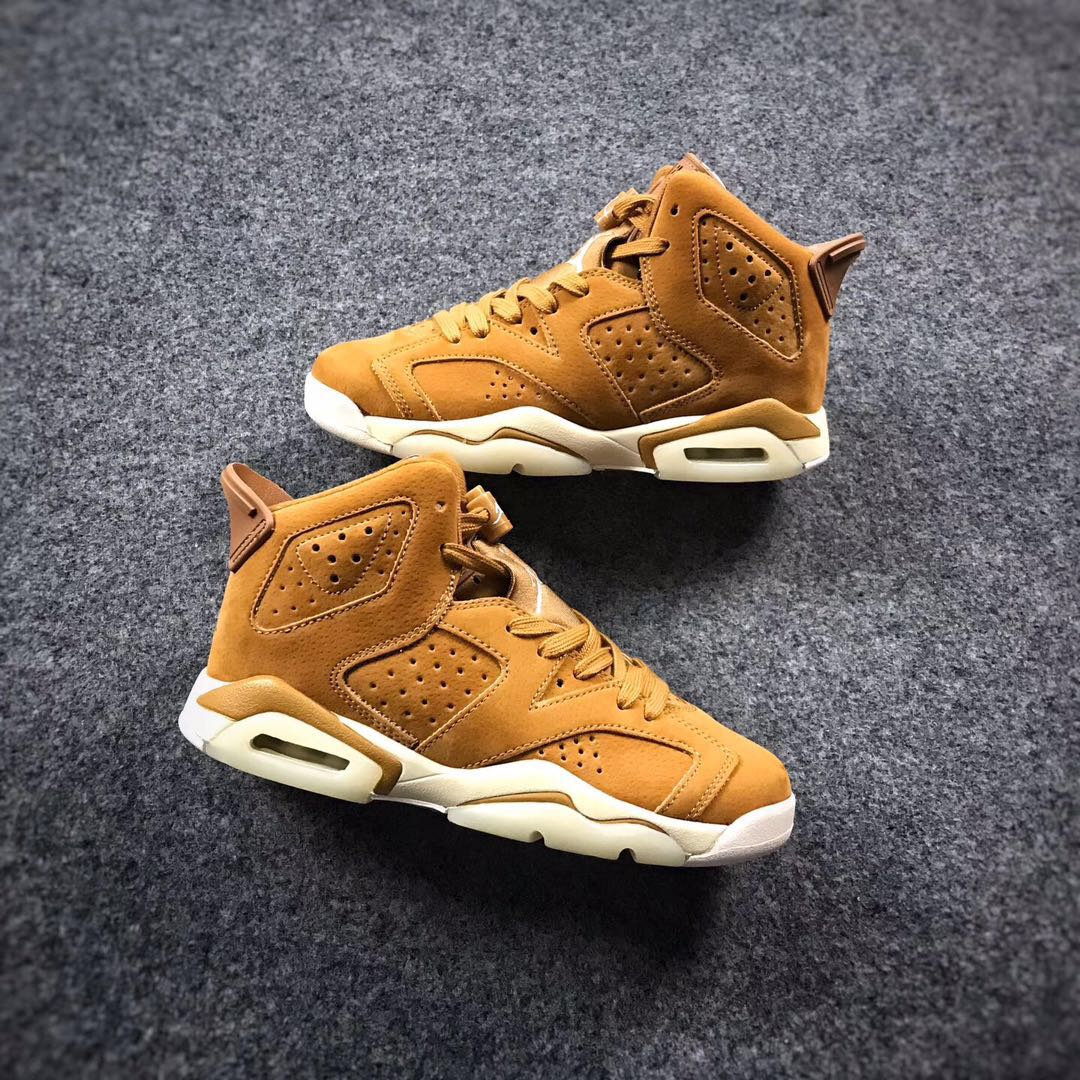 2017 Air Jordan 6 Wheat White Shoes