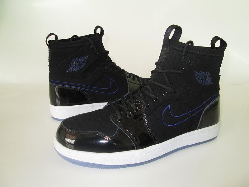 2017 Air Jordan 1 Slam Dunk Black Blue White Shoes