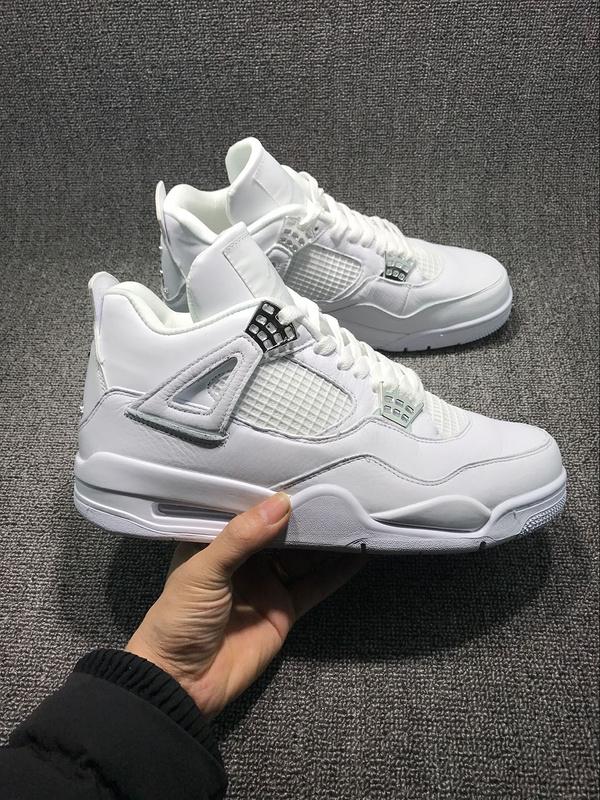 2017 Air Jordan 4 All White Shoes