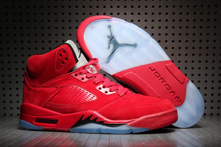 2017 Air Jordan 5 Retro University Red Black Shoes