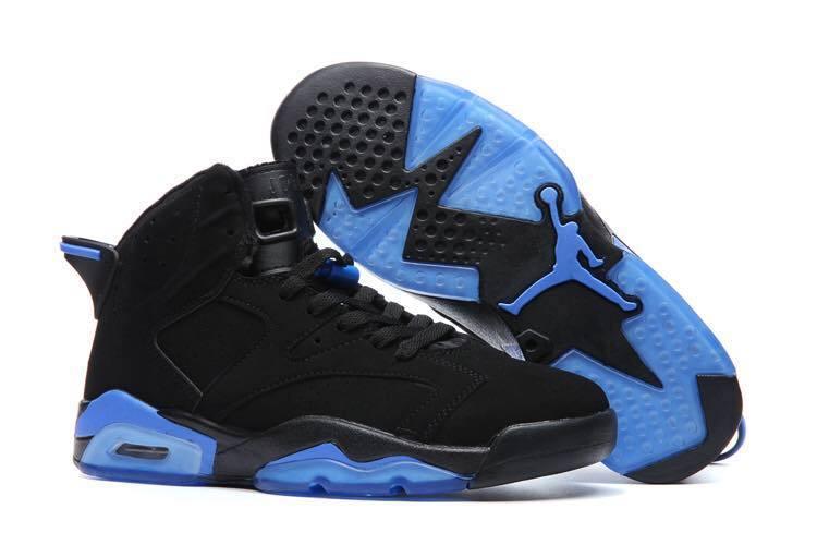 2017 Air Jordan 6 Retro Black Blue Shoes